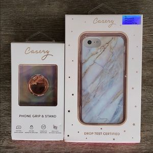 Casery iPhone case with grip ring